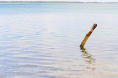 Pole in the Water Stock Images