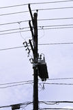Pole and Wires Royalty Free Stock Photography