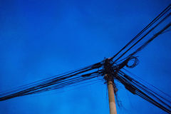 Pole and wires Royalty Free Stock Photo