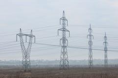 Pole z elektryczną energią Zdjęcie Royalty Free