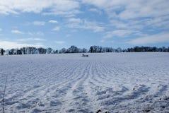 pole zakrywający śnieg fotografia stock