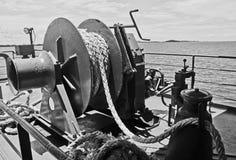 Polea de la cuerda en el transbordador Fotografía de archivo