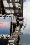 Poleas mecánicas de la telesilla en estación de esquí Fotos de archivo