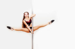 Poledance figure Royalty Free Stock Photography