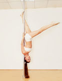 Poledance girl Royalty Free Stock Images