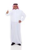 Polegar árabe do homem acima fotografia de stock royalty free