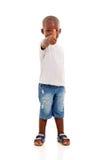 Polegar africano do menino acima fotografia de stock