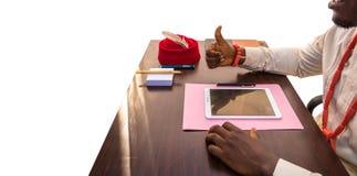 Polegar até o negócio moderno em África 2 fotos de stock royalty free