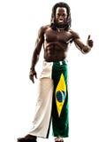 Polegar brasileiro do homem negro acima Fotos de Stock Royalty Free