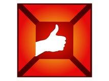 Polegar da mão acima do sinal Foto de Stock