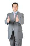 Polegar do homem de negócios acima Fotos de Stock Royalty Free