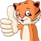 Polegar do tigre dos desenhos animados Fotos de Stock