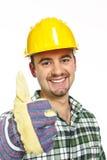 Polegar do trabalhador manual acima fotografia de stock