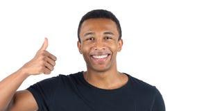 Polegares acima pelo homem negro Imagem de Stock Royalty Free