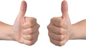 Polegares aprovados da mão acima Imagens de Stock Royalty Free