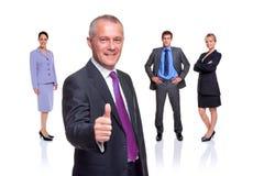 Polegares da equipe do negócio isolados acima Imagem de Stock Royalty Free