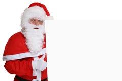 Polegares de Santa Claus acima em bom super do Natal com copyspace Imagens de Stock