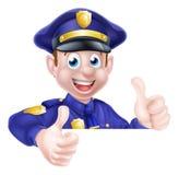 Polegares dobro do polícia acima Fotografia de Stock Royalty Free
