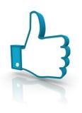 Polegares sociais acima Imagem de Stock Royalty Free