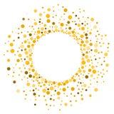 Polek kropek koloru żółtego rama royalty ilustracja