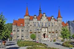 """Polen †""""lägre Silesia byggnad för stadshus för —Walbrzych †""""historisk Royaltyfria Foton"""