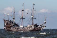 Polen Östersjön gammalt seglingskepp Arkivbilder