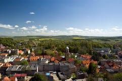 Polen, Ansicht vom Bolkow Schloss Stockfotografie