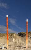 Polen auf dem Maasvlakte-Strand Stockfotos
