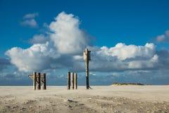 Polen auf der Nordsee fahren auf die Insel Amrum die Küste entlang Stockbild