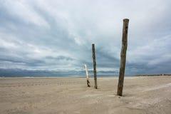 Polen auf der Nordsee fahren auf die Insel Amrum die Küste entlang Lizenzfreies Stockbild