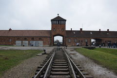 Polen, Auschwitz-Concentratiekamp Royalty-vrije Stock Afbeeldingen
