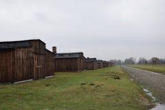 Polen, Auschwitz-Concentratiekamp Stock Afbeeldingen