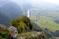 Polen - berglandskap Pieniny Arkivbilder