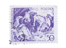 POLEN - CIRCA 1979: Stempel vorbei gedruckt, Shows Blitz, Lizenzfreie Stockfotografie
