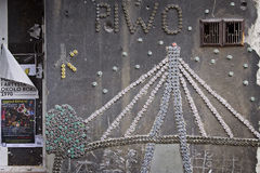 Polen: De kunst van de straat in Warshau Royalty-vrije Stock Afbeelding