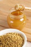Polen de la abeja, cierre para arriba Foto de archivo libre de regalías