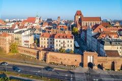polen De oude stad van Torun Lucht Mening royalty-vrije stock fotografie