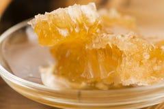 Polen fresco de la abeja con el panal Foto de archivo libre de regalías