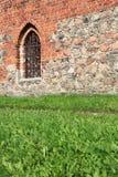 Polen gammal slott Nidzica Arkivbilder