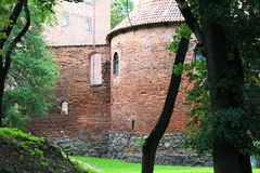 Polen gammal slott Nidzica Royaltyfri Bild