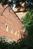 Polen gammal slott Nidzica Arkivfoton