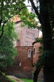 Polen gammal slott Nidzica Arkivfoto