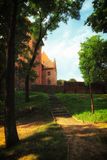 Polen gammalt slott Nidzica Royaltyfri Bild