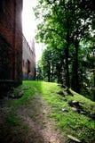 Polen gammalt slott Nidzica Royaltyfri Fotografi