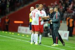 Polen- - Island-Freundschaftsspiel Lizenzfreies Stockbild