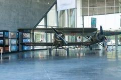 POLEN - JULI, 2015: Tentoonstellingsvliegtuig in Stock Foto's