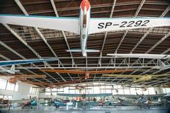 POLEN - JULI, 2015: Tentoonstellingsvliegtuig in Royalty-vrije Stock Afbeeldingen
