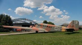 POLEN - JULI, 2015: Tentoonstellingsvliegtuig in Royalty-vrije Stock Afbeelding