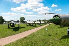 POLEN - JULI, 2015: Tentoonstellingsvliegtuig in Stock Foto