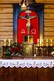 POLEN KALATOWKI - JANUARI 04, 2015: Kapell av kloster av kongregationen av Albertine Sisters Royaltyfri Foto